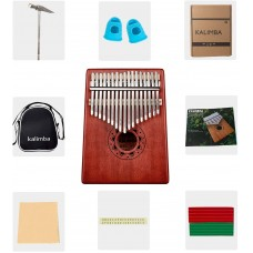 Strong Wind Kalimba Thumb Piano(17 Keys) For Kids Adults
