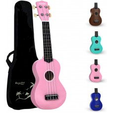 Strong Wind Pink Soprano Ukulele For Kids Beginners Students